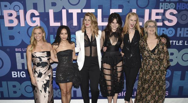 The cast of Big Little Lies gathered in New York to celebrate the premiere of the second season (Evan Agostini/Invision/AP)