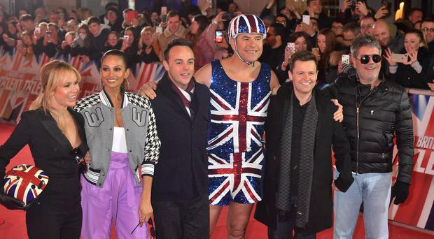 (Left to right) Amanda Holden, Alesha Dixon, Anthony McPartlin, David Walliams, Declan Donnelly and Simon Cowell (John Stillwell/PA)