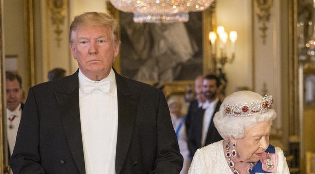 Late night talk show hosts in the US mocked Donald Trump's visit to the UK (Jeff Gilbert/Daily Telegraph/PA)