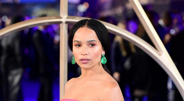 Zoe Kravitz said she is learning that she is being hired because of her talents, not her surname (Ian West/PA)