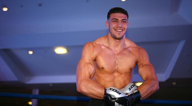Tommy Fury during the public workout at the National Football Museum, Manchester (PA)