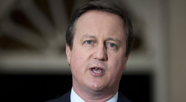 David Cameron was referenced in the soap. (Hannah McKay/PA)