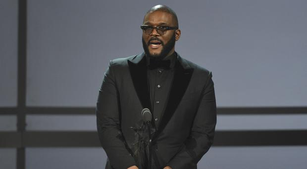 Film-maker Tyler Perry delivered a powerful speech at the Black Entertainment Television (BET) Awards (Chris Pizzello/Invision/AP)