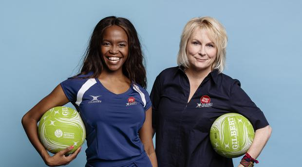 Team captains Oti Mabuse and Jennifer Saunders (Rebecca Naen/Comic Relief/PA)