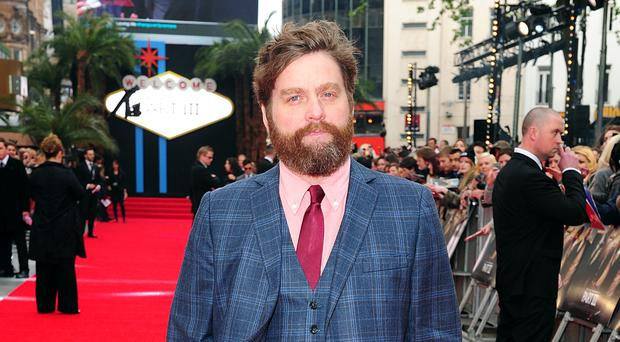 Some people thought the man in the gif was The Hangover Part 3 star Zach Galifianakis (Ian West/PA)
