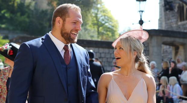 James Haskell and Chloe Madeley. (Gareth Fuller/PA)