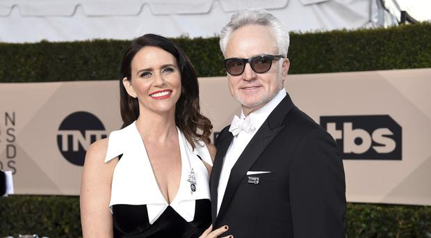 The couple both starred in The Handmaid's Tale (AP)