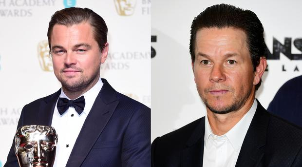 Leonardo DiCaprio and Mark Wahlberg (Ian West/PA Images)