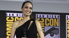 Angelina Jolie attends the Marvel Studios panel on day three of Comic-Con (Chris Pizzello/Invision/AP)