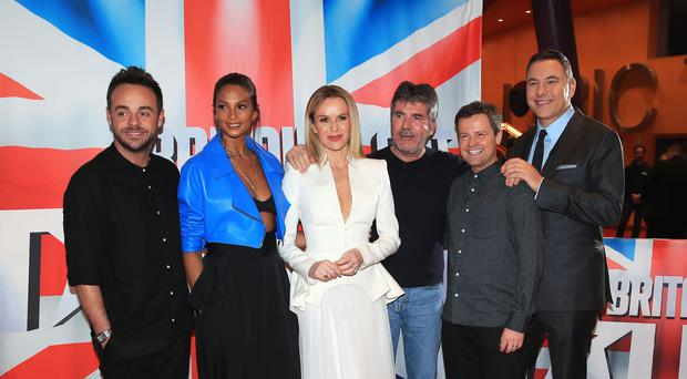 Anthony McPartlin, Alesha Dixon, Amanda Holden, Simon Cowell, Declan Donnelly and David Walliams attend the auditions for Britain's Got Talent (Peter Byrne/PA)