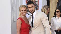 Britney Spears walked her first film red carpet with boyfriend Sam Asghari (Jordan Strauss/Invision/AP)