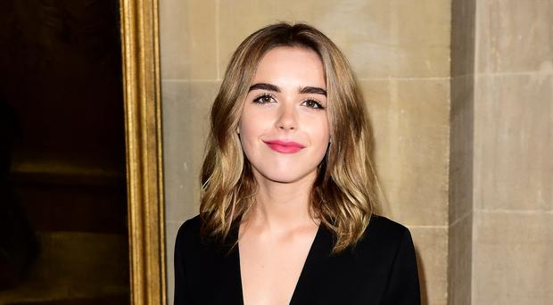 Kiernan Shipka has posted a sweet throwback picture with Chris Pine (PA)