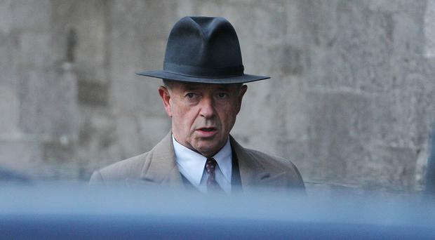 Actor Michael Kitchen during filming of ITV drama Foyle's War (Niall Carson/PA)