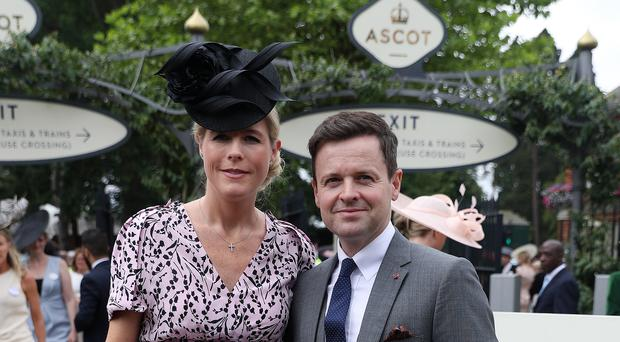 Declan Donnelly and Ali Astall at Ascot Racecourse (Steve Parsons/PA)
