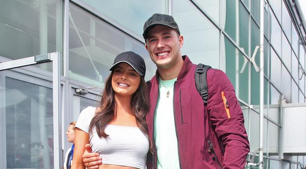 Love Island contestants Maura Higgins and Curtis Pritchard (Yui Mok/PA)