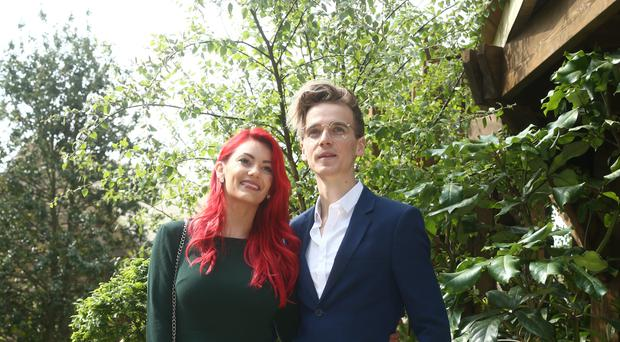 Joe Sugg and Dianne Buswell at the RHS Chelsea Flower Show at the Royal Hospital Chelsea in London (Yui Mok/PA)
