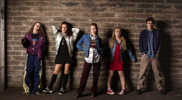 Cast members of Derry Girls (Aidan Monaghan/Channel 4/PA)