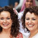 Julia (left) and Nadia Sawalha (John Stillwell/PA)