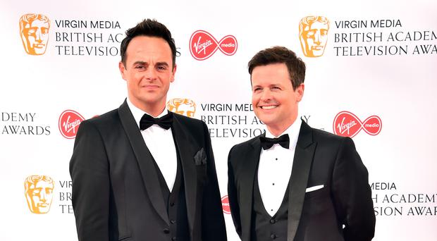 Anthony McPartlin and Declan Donnelly at the Bafta TV awards (Matt Crossick/PA)