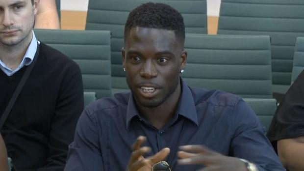 Former Love Island contestant Marcel Somerville (House Of Commons)