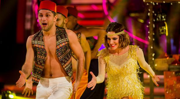 Caroline Flack and Pasha Kovalev on Strictly Come Dancing (Guy Levy/PA)