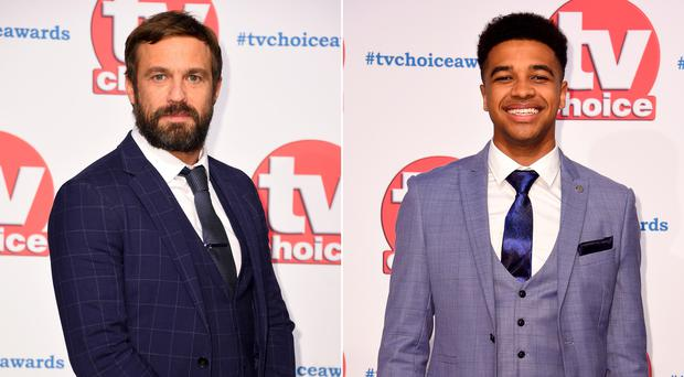 Jamie Lomas and Asan N'jie were at the TV Choice Awards (Matt Crossick/PA)