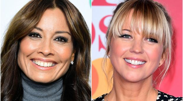 New host Melanie Sykes and old host Sara Cox (PA)