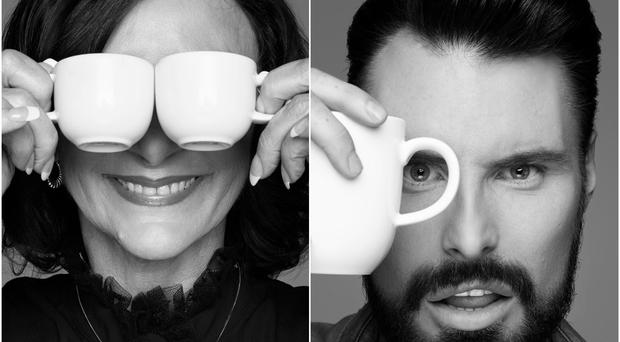 Shirley Ballas and Rylan Clark-Neal pose for Rankin for Macmillan Coffee Morning (Rankin/Macmillan)