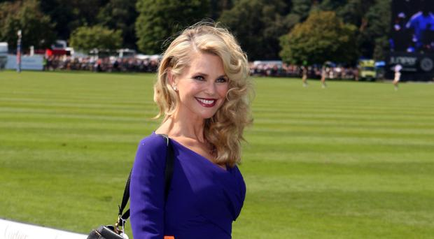 Christie Brinkley suffered injuries to her wrist and arm that required surgery (Steve Parsons/PA)