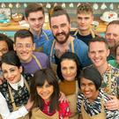 The Great British Bake Off cast 2019 (rear left to right) Steph, Henry, Priya, Helena, Alice, Phil, and Rosie, (front left to right) Amelia, David, Michelle, Michael, Dan and Jamie (C4/Love Productions/Mark Bourdillon)