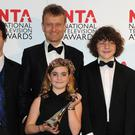 The cast of Outnumbered Tyger Drew-Honey, Hugh Dennis, Ramona Marquez, Daniel Roche and Claire Skinner in 2012 (Anthony Devlin/PA)