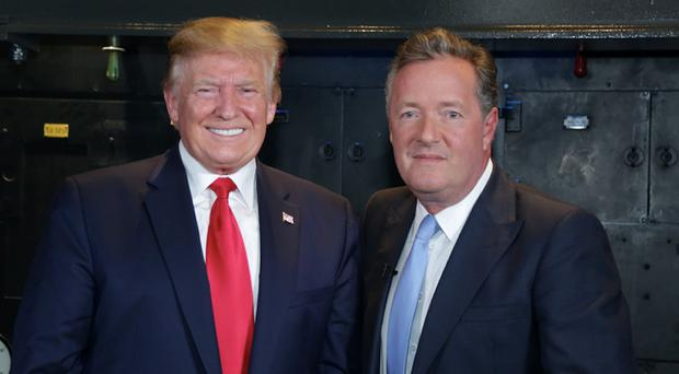 Piers Morgan during his interview in the Churchill War Rooms with US President Donald Trump for Good Morning Britain (ITV/PA)