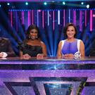 Motsi Mabuse, centre left, took her place on the judges' panel for the first time (Kieron McCarron/BBC/PA)