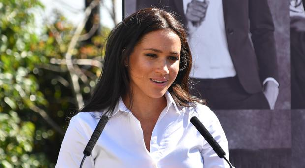Meghan appeared in throwback Suits posts from her former co-star (Mark Large/PA)