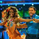 Kelvin Fletcher and Oti Mabuse (Guy Levy/BBC)