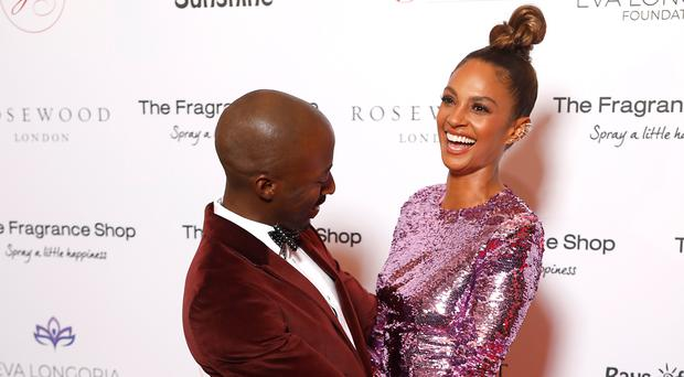 Azuka Ononye and Alesha Dixon attending the 9th Annual Global Gift Gala held at the Rosewood Hotel, London.