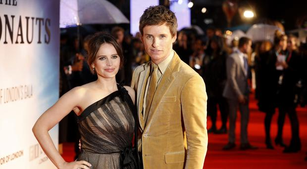 Felicity Jones and Eddie Redmayne (David Parry/PA)