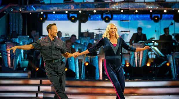 Kevin Clifton and Anneka Rice (Guy Levy/BBC)