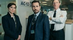 DI Kate Fleming, DS Steve Arnott and Superintendent Hastings (Aiden Monaghan/World Productions/BBC/PA)