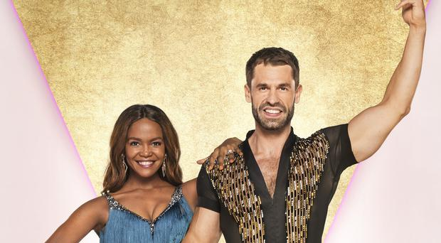 Kelvin Fletcher and Oti Mabuse (Ray Burmiston/BBC)