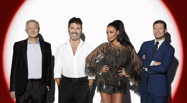 Louis Walsh, Simon Cowell, Nicole Scherzinger and Dermot O'Leary in the new ITV series of The X Factor: Celebrity (Syco/Thames/PA)