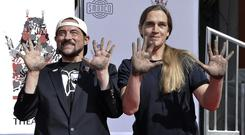 The stars of the Jay And Silent Bob films have received one of Hollywood's oldest honours (Richard Shotwell/Invision/AP)