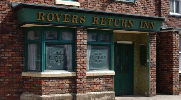 The Rovers Return on the set of the soap Coronation Street (ITV/PA)