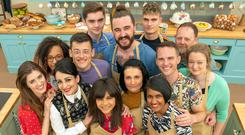 Bake Off contestants Steph, Henry, Priya, Helena, Alice, Phil, and Rosie, Amelia, David, Michelle, Michael, Dan and Jamie (C4/Love Productions/Mark Bourdillon/PA)