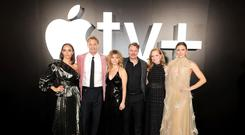 Stars of Apple TV+ drama For All Mankind, including Jodi Balfour, Joel Kinnaman, Sarah Jones, Michael Dorman, Wrenn Schmidt, Shantel VanSanten (Apple/PA)