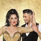 Michelle Visage with her dance partner Giovanni Pernice (Ray Burmiston/BBC)