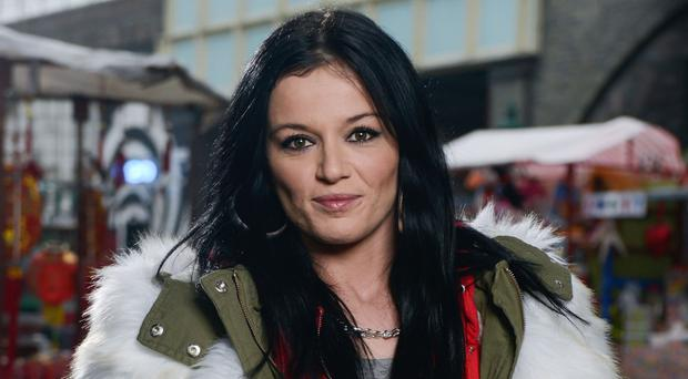 Ex-EastEnders star Katie Jarvis said she was 'overwhelmed' at support over her shop job revelation (Kieron McCarron/BBC)