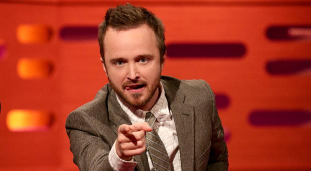 Guest Aaron Paul during the filming of the Graham Norton Show (Yui Mok/PA)