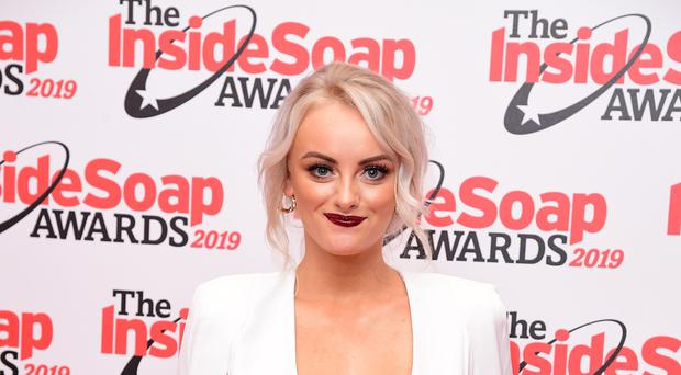 Katie McGlynn posted a message to her on-screen alter-ego (Ian West/PA)