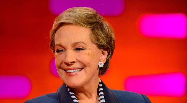 Dame Julie Andrews recording The Graham Norton Show (Dominic Lipinski/PA)